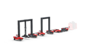 The Linde Material Handling Flexible logistic trains LT10 – LT20
