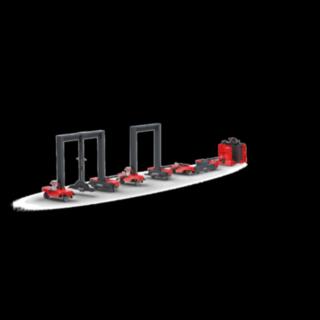 The Linde Material Handling Flexible logistic trains LT10 – LT20