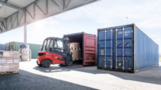The container version of the X20 – X35 forklift truck from Linde