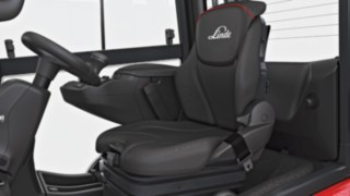 Driver's seat of the new forklift truck