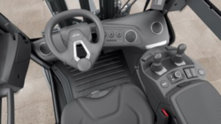 Driver's cab of the new forklift truck