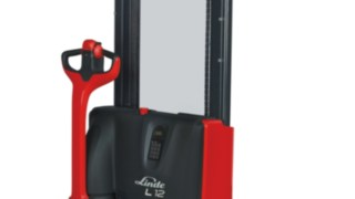 The Linde L10 – L12 electric pallet stacker