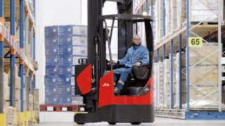 R14 – R17 X Reach Trucks in the Warehouse