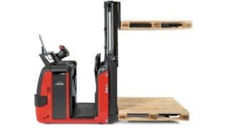 The N20CD double-deck order picker from Linde Material Handling with two fork levels