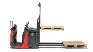 The forks of the N20 order pickers from Linde Material Handling in profile