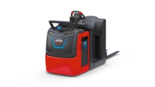 The V08 order picker's Linde BlueSpot™ from Linde Material Handling increases safety during operation.