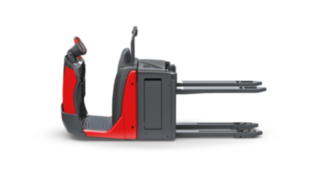 The N16 Li order picker from Linde Material Handling adjusts the position of the fork to the height of the load.