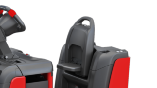 The backrest of the P40–P60 C from Linde Material Handling can be adjusted individually.
