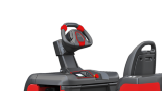 The steering wheel of the P40–P60 C from Linde Material Handling can be individually adjusted.