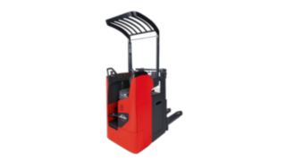 The Linde Material Handling D12 R pallet stacker
