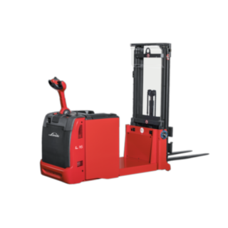 The Linde L06 - L16 AC counter balanced pallet stackers