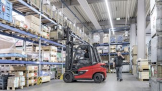 The X20 – X35 electric forklift trucks from Linde Material Handling guarantee safety in every detail.