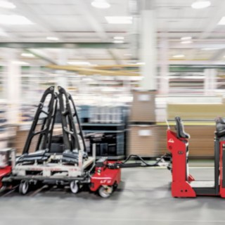 Automated Trucks in a warehouse