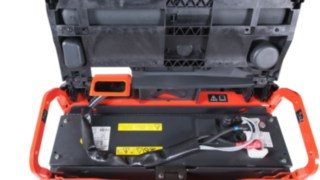Linde Li-ION battery in a Linde pallet truck