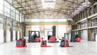 Product range of Linde forklift and warehouse trucks equipped with Linde Li-ION batteries