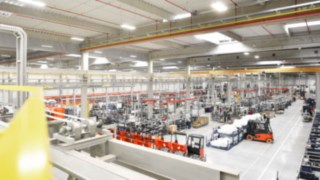 Production hall from Linde Material Handling