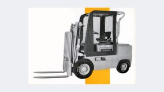 Older forklift model from Fenwick, which was bought by Linde Material Handling in 1984