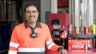 Philippe Raphael, Senior Manager Logistics in the French plant of Coca-Cola European Partners France