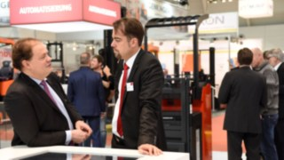 People at Logimat Fair