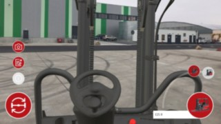 The Virtual Showroom app from Linde Material Handling enables customers to test out the view from the operator's workstation, both past the mast and on all sides.