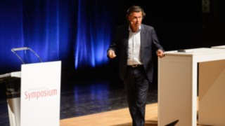 Former FIFA referee Urs Meier was the keynote speaker at this years symposium