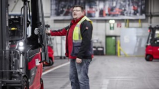 Fleet management solution Linde connect in use at automotive supplier SMP