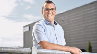 Photograph of Markus Zink, Project Manager at ebm-papst in Mulfingen
