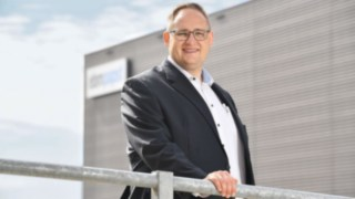 Photograph of Tobias Arndt, Logistics Director at ebm-papst in Mulfingen