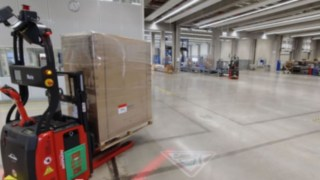 Video showing the L-MATIC from Linde Material Handling in action at the ebm-papst site in Mulfingen