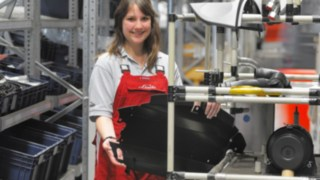 Linde apprentice in the production division