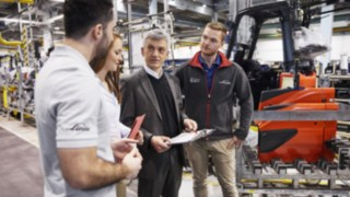 Meeting in the production at Linde