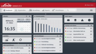 Dashboard of the fleet management solution :connect
