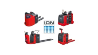 In addition to the previously available pedestrian pallet trucks Linde T16 ION and Linde T18 ION, now pallet trucks with stand-on platform, low level order pickers and initial tow tractor models can also be ordered with Li-ion technology.
