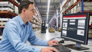 The connect: fleet management software from Linde Material Handling provides information on the use and consumption data of the fleet.