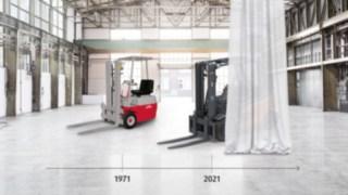 50 years Linde e-trucks