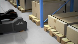 The intelligent braking assistant of the Rack Protection Sensor from Linde Material Handling