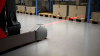 Use of polarized light sensors for distance measuring of the Rack Protection Sensor from Linde Material Handling
