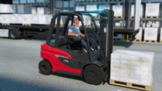 Animation of the H20 – H35 diesel forklift truck