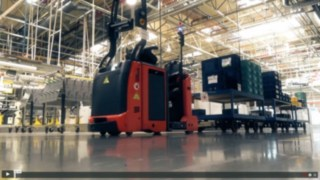 Automated forklifts from Linde at Opel