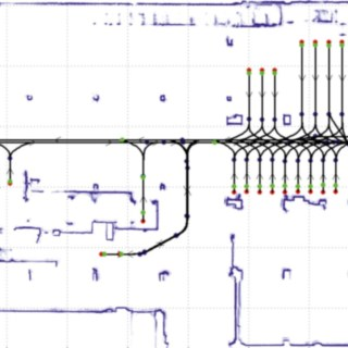 Routing of the robotic forklift truck