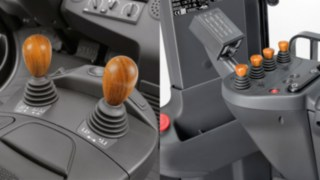Wooden joysticks for Linde forklifts