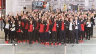 The Linde Material Handling team at LogiMAT 2019
