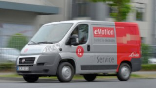 Linde Service Van. Electric vehicle based on the Fiat Ducato